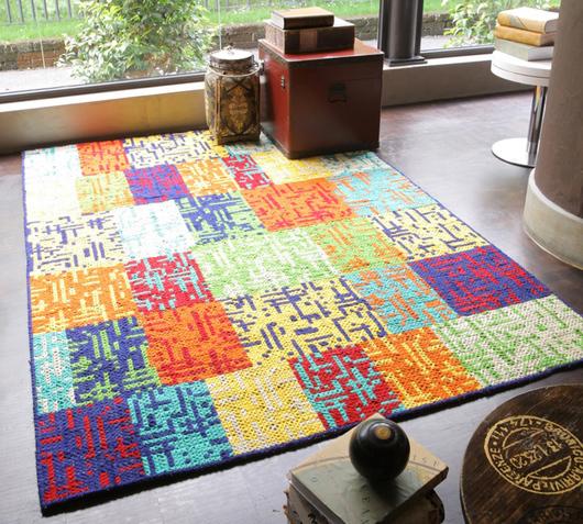 duzzle-tappeto-colorato-lana-stones-ambiente